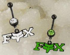 Monis Bows N More - Green or White Fox Belly Button Ring , $8.50 (http://www.monisbowsnmore.com/green-or-white-fox-belly-button-ring/)
