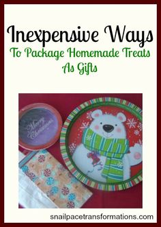 You don't need to spend a fortune to wrap up your homemade treats as gifts, in fact you may not even need to spend a dime.