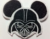 Star Wars Darth Vader Embroidered Patch Inspired by Disney Mouse Ears