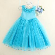 29.00$  Buy now - https://alitems.com/g/1e8d114494b01f4c715516525dc3e8/?i=5&ulp=https%3A%2F%2Fwww.aliexpress.com%2Fitem%2F2015-New-blue-cinderalla-princess-girls-dress-flower-girl-dresses-kids-formal-wedding-birthday-dress-for%2F32436794307.html - 2017 New Blue Cinderalla Princess Girls Dress Flower Girl Vestido Kids Formal Wedding Birthday Dress For Party SKF154005