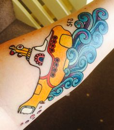 Very fresh & new tattoo! Yellow Submarine