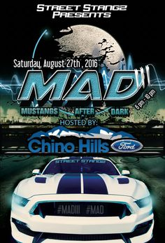 Hey Inland Empire Mustang fans!!! Save the date for our first annual 'Mustangs After Dark' car show! August 27th from 6-9 pm our friends from Street Stangz will have THE hottest Mustangs of So Cal here to check out! We will also have folks from many of our high performance partners here on hand in addition to food, music and tons of fun! Come spend an evening with the Ponys!   More info: https://www.eventbrite.com/e/mustangs-after-dark-iii-tickets-26214798167