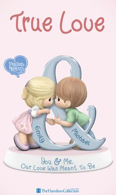 Your soulmate. Your best friend. Your better half. There are many ways to express how you feel about your true love. Now you can show your love in a wonderfully unique way with this Precious Moments figurine, customized with you are your sweetheart's names on a decorative ampersand symbol. Don't wait to let everyone know there is no greater love story than yours: