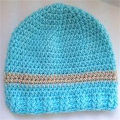 The Original Bizzy Crochet - Free Hat Patterns Size newborn dik en dun garen-variant