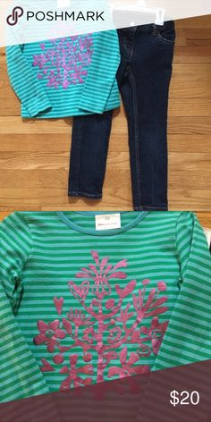 Hanna Andersson set size 110 Jeans and top set very good condition. Sfpf home. Hanna Andersson Matching Sets