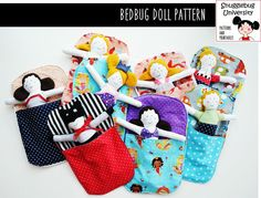This DIGITAL pattern provides instructions for how to make a 9 inch doll and an accompanying sleeping bag. There are lots of customization options for the doll--clothing can be either attached or detached. You can make a mermaid, a superhero, a princess...or even a mouse! There are two different short hair options and two different long hair options which can be made into either a girl or a boy doll. Detached clothing options include a shirt, dress, skirt, coat, cape, and mermaid tail. An…
