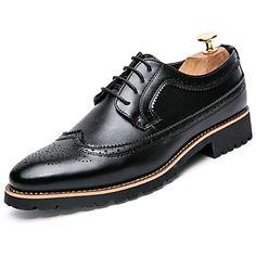4df66ab8a9   29.99  Hombre Zapatos Confort Cuero Otoño Negocios Oxfords Negro   Marrón    Al aire libre