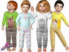 Baby loves cats toddler outfit by Weeky - Sims 3 Downloads CC Caboodle