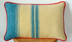 Upcycled Wool Cushion, Recycled Wool Pillow, Recycled Woollen Blanket, Irish Wool Blanket, Foxford Blanket – Handmade in Ireland