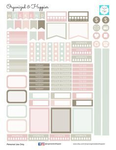 Free Printable Antique Pastel Planner Stickers from Organized and Happier