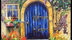 pinterest paintings of doors - YouTube