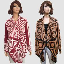 Lady's Casual jacquard Long Sleeve Shawl Collared Warm Open Draped Cardigan sweater  Best Seller follow this link http://shopingayo.space