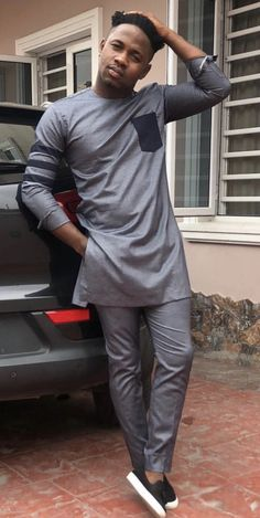 Modern Traditional wear for men - DarlingNaija African Wear Styles For Men, African Dresses Men, African Attire For Men, African Clothing For Men, African Shirts, Nigerian Men Fashion, Indian Men Fashion, African Fashion, Tall Men Fashion