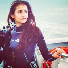 Celeb fitness: Nina Dobrev goes diving. Check out our water workout ideas...