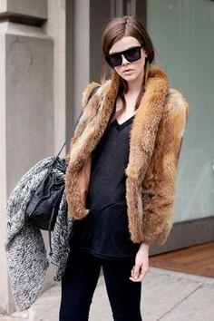 Black and brown fur