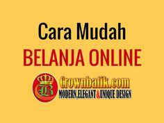 Panduan Cara Mudah Belanja baju  batik secara online di www.crownbatik.com