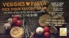 Babybear's Freebies, Sweeps and more!: Pasta Fits Pasta Loves Veggies $250 Cash Sweepstak...