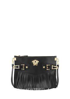 Versace - Medium Palazzo Fringe Shoulder Bag