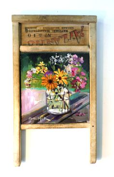 """Charley Palmer, Stereotype, 24"""" x 13"""",  acrylic on washboard."""