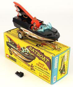Rare variation Corgi Toys 107 Bat Boat with shaped Spun wheels