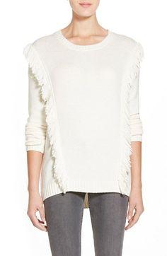 Trouvé Fringe Crewneck Sweater available at  Nordstrom Medium Fringe Sweater e65bb757c