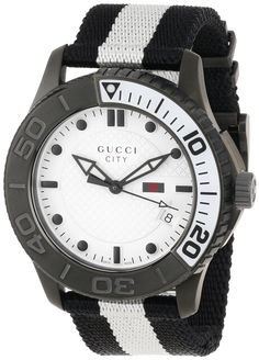 Gucci Watch , Gucci Men's YA126243 Gucci Timeless White Diamond Pattern Dial Watch