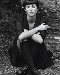 Christy Turlington by Peter Lindbergh for Prada Spring Summer 1994