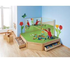 Platform Play Area with Mobile Drawers by HABA, 259013