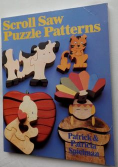 Scroll Saw Puzzle Patterns Patrick Patricia Spielman 1st Edition Paperback 1988