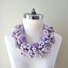 Floral Infinity Accent Scarf, 2 scarf combo, Mauve, necklace accent scarf, Organic Cotton, wear together or separately, purple accent scarf