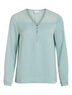 V-HALS LANGERMET BLUSE Models, Long Sleeve, Sleeves, Mens Tops, T Shirt, Women, Products, Fashion, Long Dress Patterns