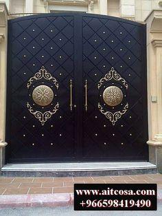 Gate Wall Design, House Main Gates Design, Steel Gate Design, Wooden Main Door Design, Front Gate Design, House Front Design, Iron Main Gate Design, Gate Designs Modern, Modern Entrance Door