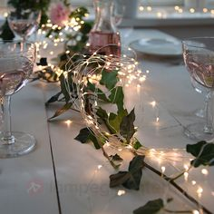 100 LED Battery Operated Fairy Lights, Rustic Wedding, Centerpiece, Room Decor, … – My Wedding Dream Rustic Wedding Centerpieces, Wedding Decorations, Christmas Decorations, Christmas Lights, Winter Table Centerpieces, Party Table Decorations, Christmas Table Settings, Holiday Tables, Holiday Parties
