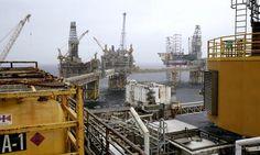 October 11, 2012- Oil platform Ekofisk in the North Sea, Norway
