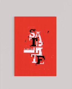 Desplegable tipográfico. El proyecto consta de 4 instancias: tapa, doble página editorial, afiche y contratapa. Diseño Gabriele I / 2015.
