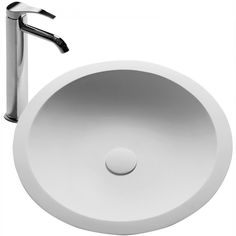 The Schreyer true solid surface sink vessel - White circle sink  http://www.franceandson.com/the-schreyer-true-solid-surface-sink-vessel.html