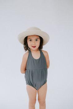 Mini Girls swimmers // Kortni Jeane // Little girl swim wear // Mini Romper One-Piece