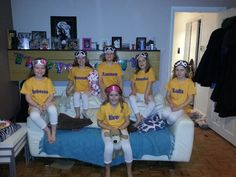 Girls sleepover party favours... personalised pyjamas and eye masks. Everyone loved them.