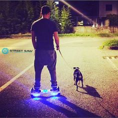 Best way to  #walk your  #dog is with our StreetSaw #hoverboard! #goodafternoon ☀️