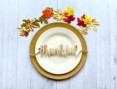 Thanksgiving Place Settings - Together Place Settings - Blessed Table Setting - Grateful Table Setting - Thanksgiving Table Decor
