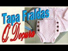Tapa Fraldas ¨QUE DOÇURA¨ em Tricô para Bebê de 1 a 3 meses - YouTube