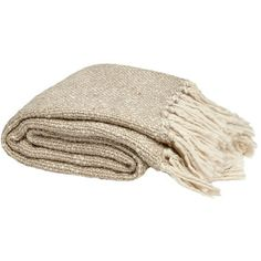 Metallic Knit Natural Throw ($94) ❤ liked on Polyvore featuring home, bed & bath, bedding, blankets, fillers, beige bedding, chunky blanket, knit blanket, chunky knit throw blanket and textured blanket