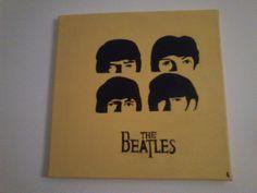 schilderij van The Beatles, iets van een half jaar geleden gemaakt.