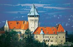The Smolenický zámok Chateau, one of the romantic buildings in Slovakia built to the design imitating central France chateaus. Places To Travel, Places To See, Toronto Travel, Heart Of Europe, Vacation Pictures, Bratislava, Cool Pictures, Tourism, Adventure