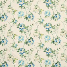 Amaya Curtain Fabric Porcelain | Cheap Printed Curtain Fabric | UK Delivery