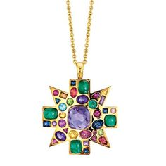 Verdura | Products | NECKLACES | Byzantine Pendant Brooch - http://www.verdura.com/store/necklace/products/byzantine-pendant-brooch-amethyst