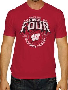 Wisconsin Badgers 2015 NCAA College Basketball Final Four Red T-Shirt