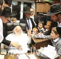 Siyum on Moed in home of Rav Chaim Kanievsky