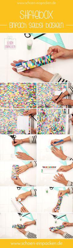 Eine Stiftbox einfach selber basteln   schön-einpacken