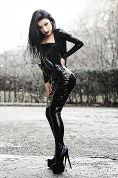Black Latex Goth by Merilinka.deviantart.com on @deviantART